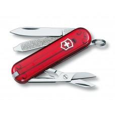 Нож Victorinox Classic SD 0.6223.T полупрозрачный красный