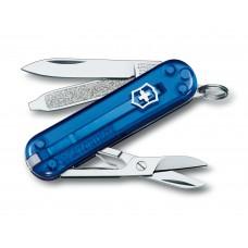 Нож Victorinox Classic SD 0.6223.T2 полупрозрачный синий