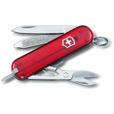 Нож Victorinox Signature 0.6225.Т полупрозрачный красный