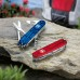 Нож Victorinox Huntsman 1.3713.T полупрозрачный красный