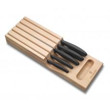 Набор из 5 предметов Victorinox Swiss Classic In-Drawer Knife Holder 6.7143.5 с подставкой