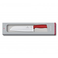 Кухонный нож Victorinox Swiss Classic Santoku Knife 6.8521.17G с воздушными карманами в подарочной упаковке