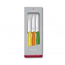 Набор из 3 ножей Victorinox Swiss Classic Paring Knife Set Colorful 6.7116.31G в подарочной упаковке
