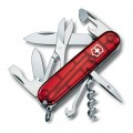 Нож Victorinox Climber 1.3703.T полупрозрачный красный