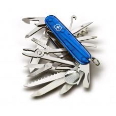 Нож Victorinox SwissChamp 1.6795.Т2 полупрозрачный cиний
