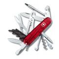 Нож Victorinox CyberTool 34 1.7725.T полупрозрачный красный