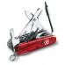 Нож Victorinox CyberTool 41 1.7775.T полупрозрачный красный