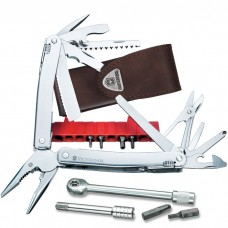 Мультитул Victorinox Swiss Tool Spirit XC Plus Ratchet 3.0239.L в кожаном чехле