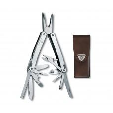 Мультитул Victorinox Swiss Tool Spirit X 3.0224.L в кожаном чехле