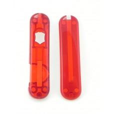 Комплект накладок Victorinox к ножу 58 мм C.6228.T полупрозрачный красный с фонариком