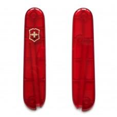 Комплект накладок Victorinox к ножу 84 мм C.2300.T без места под штопор, полупрозрачный красный