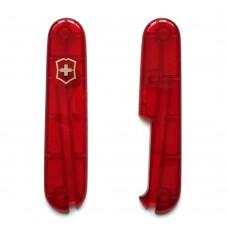 Комплект накладок Victorinox к ножу 84 мм C.2600.T с местом под штопор, полупрозрачный красный