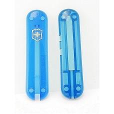Комплект накладок Victorinox к ножу 58 мм C.6225.T2 полупрозрачный синий с ручкой
