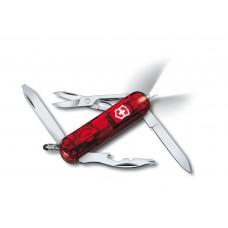Нож Victorinox Manager Midnite 0.6366.T полупрозрачный красный