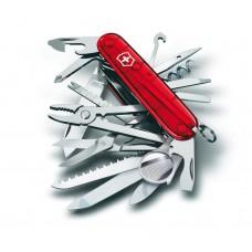 Нож Victorinox SwissChamp 1.6795.T полупрозрачный красный
