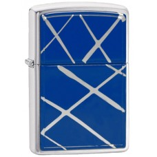 Зажигалка Zippo String Paint - Blue Brushed Chrome 20177