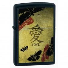 Зажигалка Zippo 218 Black Matte Love 20839