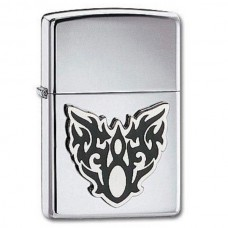 Зажигалка Zippo 250 High Polish Chrome Moth Tattoo 20872