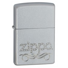 Зажигалка Zippo 205 Scroll Satin Chrome 24335