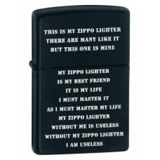 Зажигалка Zippo 218 Creed Black Matte 24710