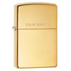 Зажигалка Zippo High Polish Solid Brass 254
