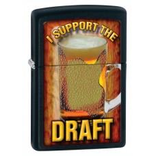 Зажигалка Zippo 218 I Support the Draft 28294