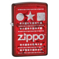Зажигалка Zippo 28339 Candy Apple Red with Logo 28342
