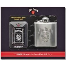 Набор Zippo 28414 Lighter & Jim Beam Flask Gift Set