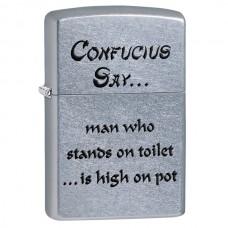 Зажигалка Zippo 207 Confucius Say Toilet 28459