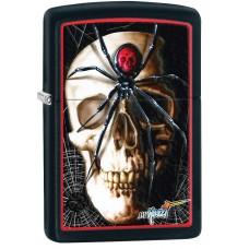 Зажигалка Zippo 218 Mazzi Skull & Spider 28627