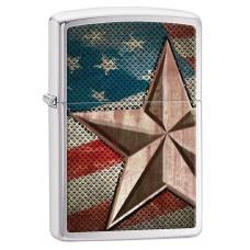 Зажигалка Zippo 200 Retro Star 28653