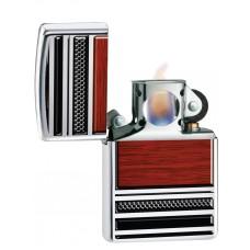 Зажигалка Zippo 250 Steel & Wood Design Pipe Lighter 28676