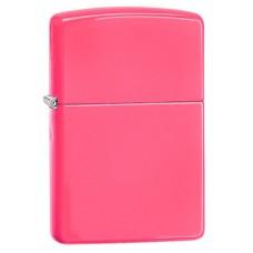 Зажигалка Zippo Reg Neon Pink Lighter 28886