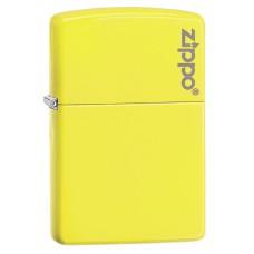 Зажигалка Zippo Neon Yellow Zippo Logo 28887ZL