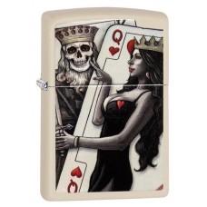 Зажигалка Zippo 216 Skull King Queen Beauty 29393