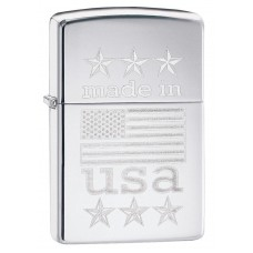 Зажигалка Zippo 250 Made In USA with Flag 29430