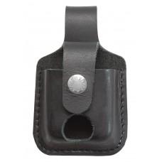 Чехол Zippo LPТBK черный с петелькой и с прорезью для извлечения зажигалки
