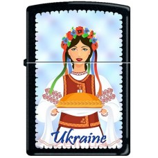 Зажигалка Zippo Ukraine Woman Folk Dress 218 UW