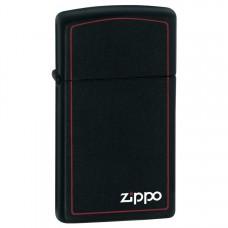 Зажигалка Zippo Black Matte w/Zippo-Border 1618 ZB