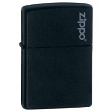 Зажигалка Zippo Black Matte With Logo 218ZL