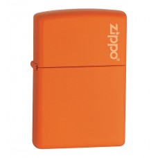 Зажигалка Zippo Orange Matte With Logo 231 ZL