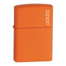 Зажигалка Zippo Orange Matte With Logo 231 ZL